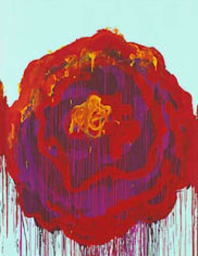 Cy Twombly's 'The Roses' Exhibition at Gagosian Gallery