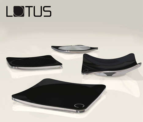 Wireless Cooking Dishes - Lotus Kitchen Hob Lets You Cook Food Anywhere