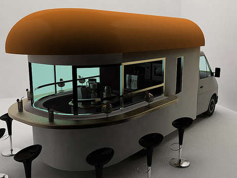 Coffeehouses on Wheels - Daniel Milchtein's Stunning 'Mobile Coffee Shop' Will Stop Traffic