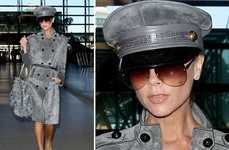 Military-Inspired Trench Coats - Victoria Beckham Shows How to Rock Military Street Style
