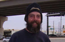 "Online Promos for Panhandlers -  ""Pimp This Bum!"" Helps Houston Homeless Man"