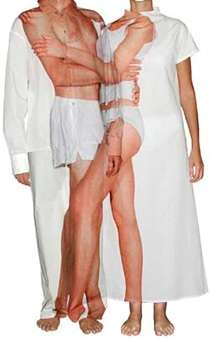 Pajamas for Couples - 'LoveMe Before LoveMe After' His-and-Hers Sleepwear