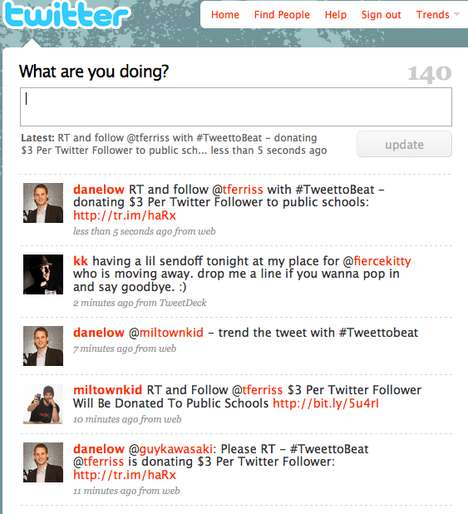 Social Bribing For Charity - @tferriss Donates to Charity With Every New Twitter Follower