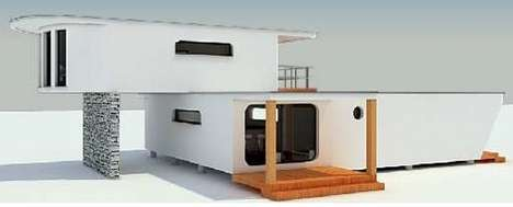 Hip Pod Houses - 'Module-Home' Architecture Has Solar Panels and Water Saving Systems
