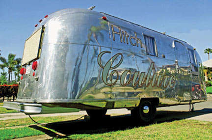 Traveling Fashion Boutiques - Independent Designer Goes Mobile in Her Airstream 'Hitch Couture'