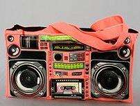 Retro Audio Couture - The Loop NYC Ghetto Blaster Bag Has Real Speakers