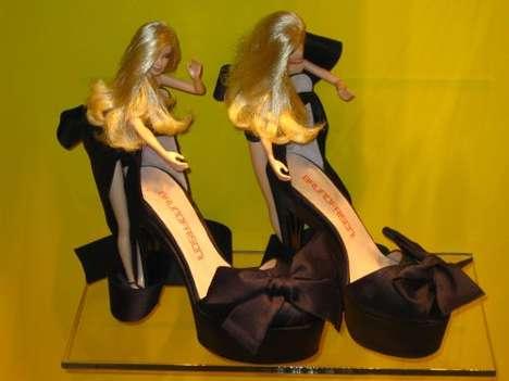 Barbies As Shoe Displays