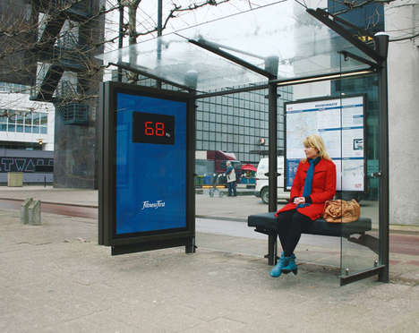 Fitness First's Giant Scales at Bus Stops Display Your Weight