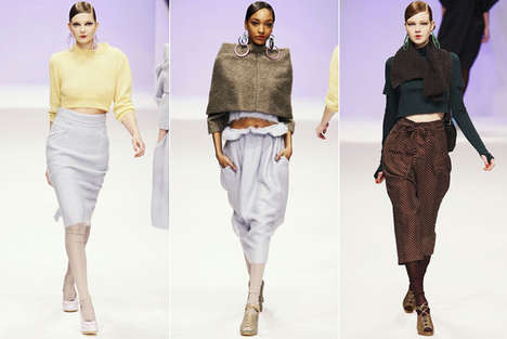 The Return of Crop Tops - Belly Buttons Make Appearance in Multiple Designer Collections