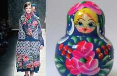 Matryoshka Couture - Kenzo Dresses Living Dolls for Fall