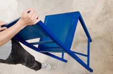 Rubber Rebound Seating - 'A Restless Chairacter' Seating Lets You Rock When You Shouldn&