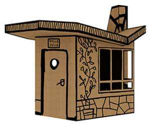 Flatpack Forts - The 'Villa Julia' Cardboard Playhouse Lets Kids Play Designer