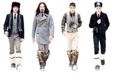 Fashionable Fleece Shinguards - Nom de Guerre F/W '09 Blends Soccer Gear and Military Chic