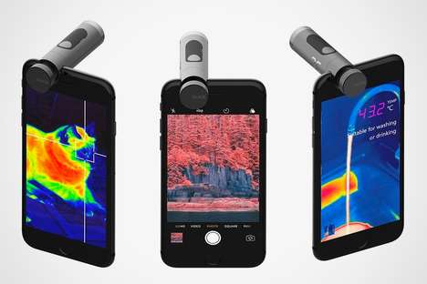 Infrared Smartphone Camera Accessories - This Infrared Camera Concept is Fun and Functional