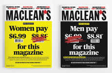 Wage Gap Magazines - Maclean's Magazine is Asking Men to Pay More for Its Latest Issue