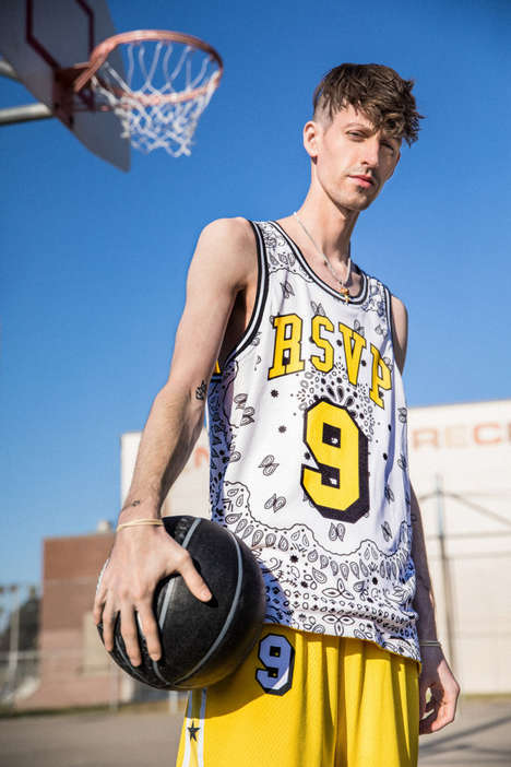 Yellow-Accented Basketball Jerseys - Converse and RSVP Gallery Created Cheerfully Tonal Designs