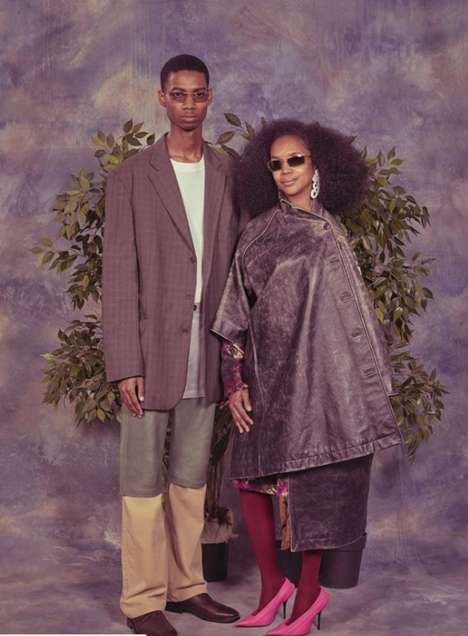 Awkward High Fashion Campaigns - This Balenciaga Fashion Campaign Features 'Awkward Family Photos'