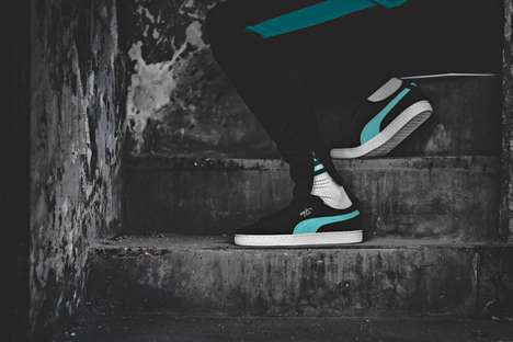 Turquoise-Accented Sneaker Designs