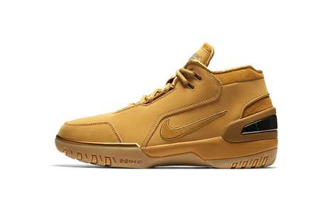 Wheat-Colored Basketball Sneakers
