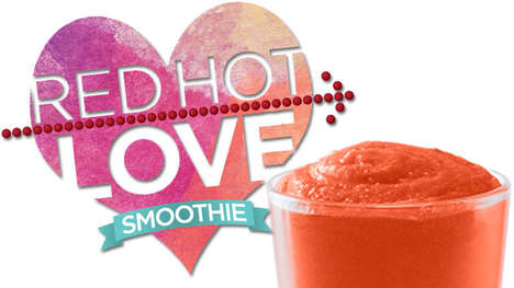 Candy-Infused Smoothies - The Tropical Smoothie Cafe 'Red Hot Love Smoothie' is Limited-Edition