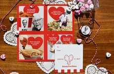 Chicken-Scented Valentines - KFC is Giving Away Scratch N Sniff Valentines That Smell Like Chicken