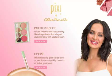 Influencer-Created Cosmetics - Pixi Beauty Collaborated with a Trio of Beauty Gurus on #PixiPretties