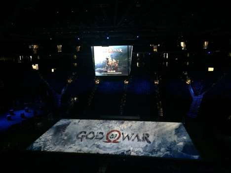 Arena-Sized Game Trailers - Sony's Projection-Mapping Trailer for God of War Debuted on an NBA Court
