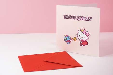 Adorable Cartoon Cat Cards