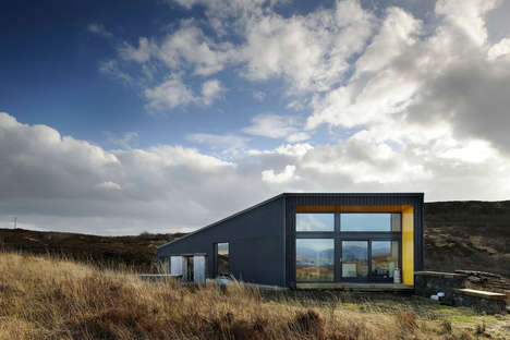 Understated Modern Home Designs - Rural Design Architects Created the Modern Black House in Scotland