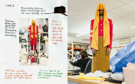 Deconstructed Menswear Lookbooks - The Fall/Winter Goeie Katoen Line Was Shown on Informative Papers