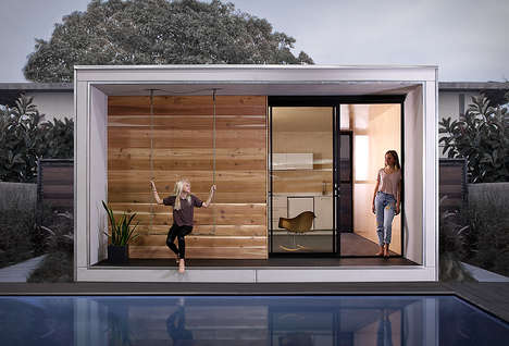 Low-Waste Prefab Flatpack Cabins - The 'Plus Hus' Offers All the Amenities Needed for Modern Living