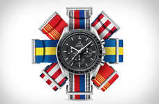 Olympics-Celebrating Watch Straps - The Omega NATO Watch Straps Come in 18 Different Styles