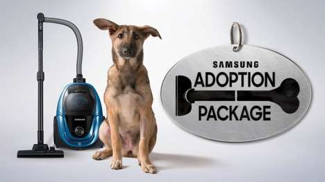 Complimentary Vacuum Campaigns - The Samsung Adoption Package Gifts New Adoptive Pet Owners