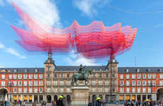 Suspended Fabric Installations - Janet Echelman's '1.78 Madrid' Marks the City's 400th Anniversary