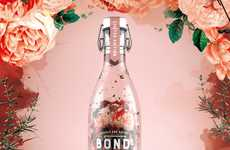 Romantic Soft Drinks - OurCreative's Bonds Cucumber Beverage Received a Makeover for Valentine's