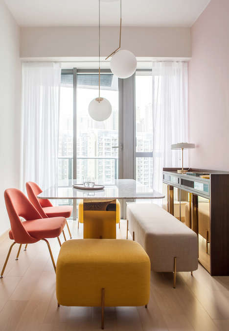 Color-Pop Home Decor - Lim + Lu Brighten Up This Living Space in Hong Kong with Vibrant Nuances