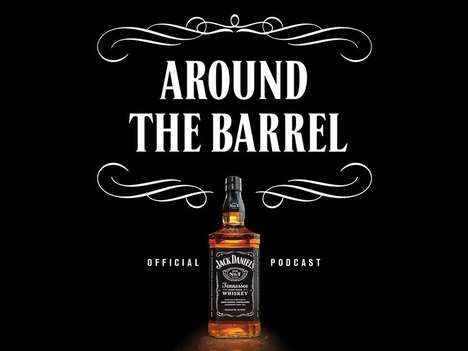 Whiskey Brand Podcasts - Jack Daniel's is Launching a Branded Podcast Called 'Around the Barrel'