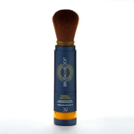 Translucent Powder Sunscreens - The 'Brush On Block' Sunscreen is Suitable for Sensitive Skin