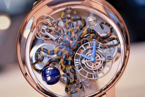 Intricate Luxury Watches - The Astronomia Tourbillon Clarity Octopus is a Masterfully Crafted Watch