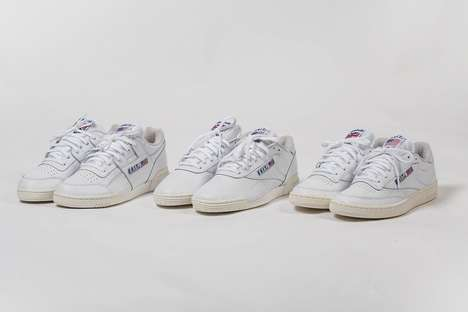 Co-Branded Retro Tennis Sneakers