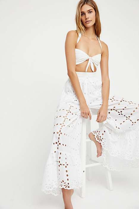 Eyelet Design Motifs - Free People Boasts a Summer Collection of Delicately Perforated Clothing