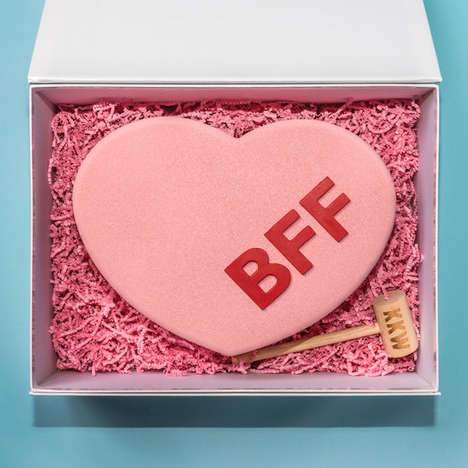 Edible Emoji Fragrance Promos - The KKW Emoji Fragrance Press Kits Came in a Giant Chocolate Heart