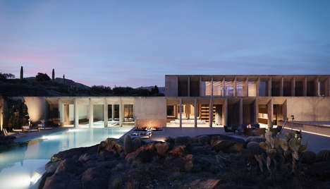 Luxury Hotel Sanctuaries - The Boundary Releases a Visual Concept for a Hotel in the Sonoran Desert