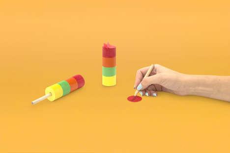 Popsicle-Shaped Sticky Notes