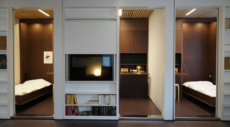 Reconfigurable Compact Apartments - White Arkitekter Prototype Homes with Movable Walls