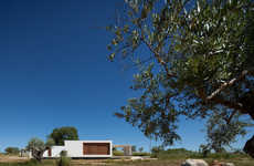 Portuguese Minimalist Houses - This Boxed White Structure Features a Flat Roof and Clean Design