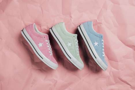 Re-Imagined Pastel Sneakers - Converse Releases The Cotton Candy Pack of Reinvented One Star Lows