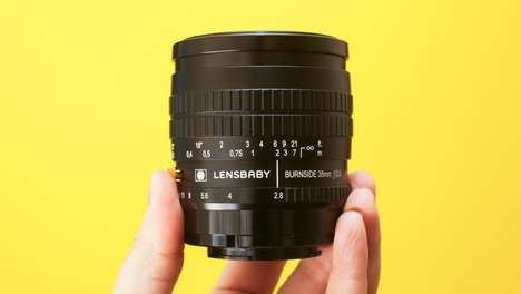 Vignette-Controlling Lenses - The Lensbaby Burnside 35 Offers Mechanical Control of Vignette