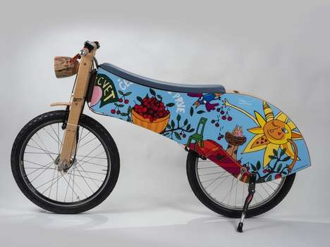 Illustrated Retro Electric Bikes