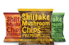 Whole Mushroom Chips - Yuguo Farms' Mushroom Chips are Made with 100% Natural, Non-GMO Shiitake